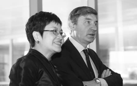 Cathy Lo and Nigel Carrington