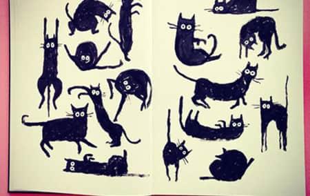 Jean Jullien Cats