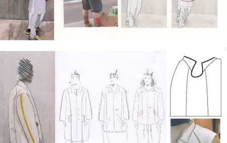 Sketchbook details - Austen Western, BA Fashion