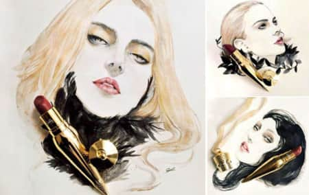 Fashion Drawing - The Face