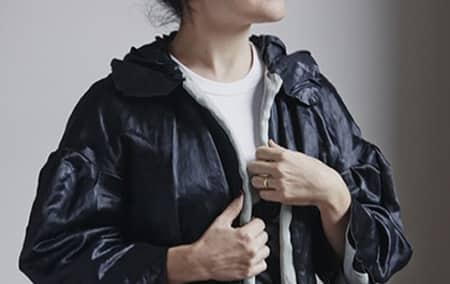 A woman wearing a jacket