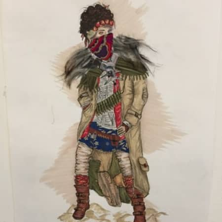 Costume design for Lady Macbeth by Daisy Fitzpatrick, uAL