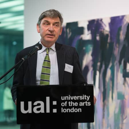 Vice-Chancellor of University of the Arts London Nigel Carrington addresses guests, ©D Griffiths 2014