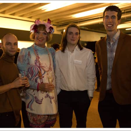 Grayson Perry and guests at the Benefactors' Reception