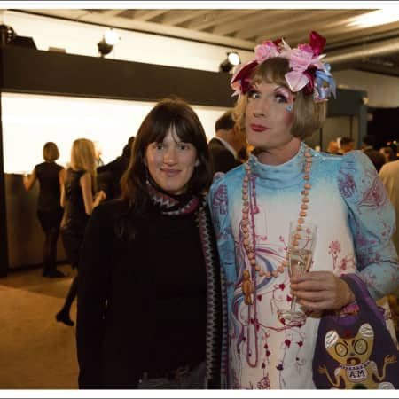 Scholarship recipient Holly Stevens and Grayson Perry