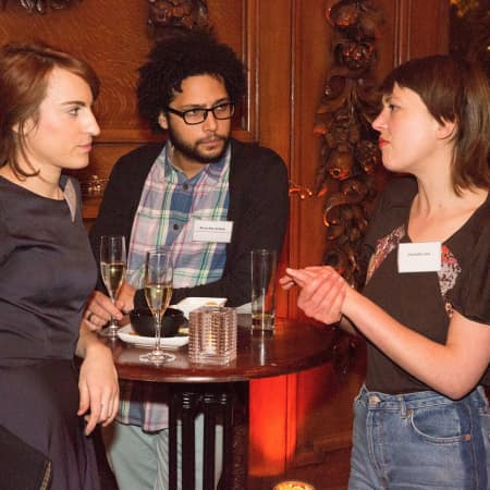 Scholars chatting at the Benefactors' Reception © M Bastel 2013