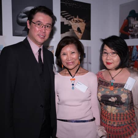 Kai-Yin Lo and Janice Choi with guest at the HK Alumni and Friends Reception 2013