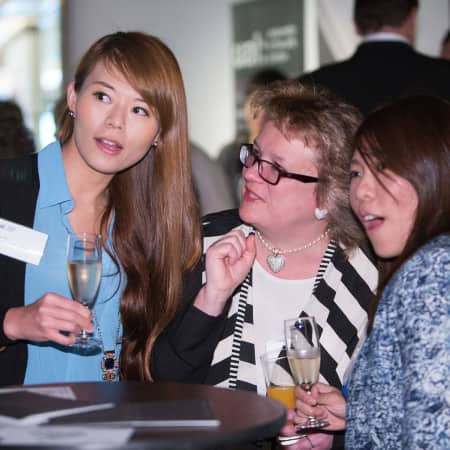 Karen Doyle with guests at the HK Alumni and Friends Reception 2013