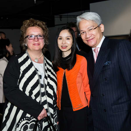 UAL's Director of Development and Alumni Relations, Karen Doyle, with guests at the HK Alumni and Friends Reception 2013
