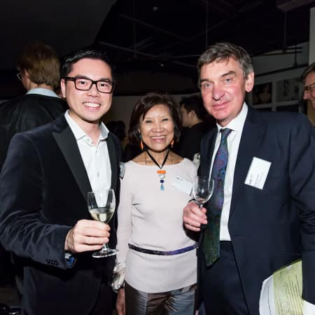UAL Vice-Chancellor, Nigel Carrington, with guests at the HK Alumni and Friends Reception 2013