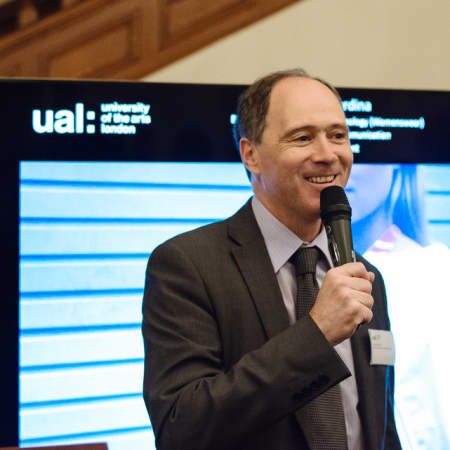 Image of Scott Wightman, British Ambassador to the Republic of Korea, making a speech to guests