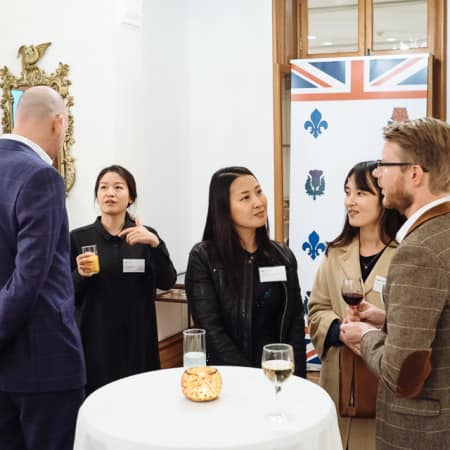 Image of people at UAL alumni event in Seoul, Korea