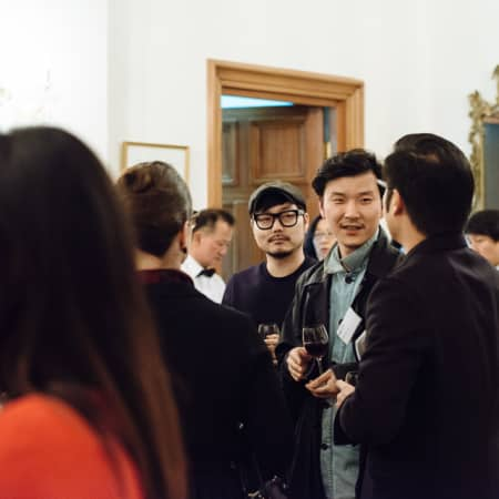 Image of a group of people at the UAL alumni event in Seoul, Korea