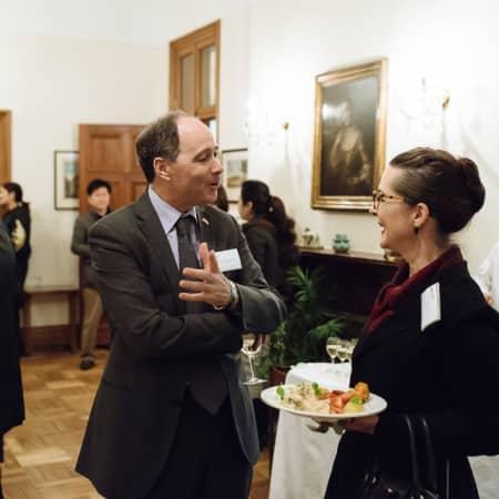 British Ambassador to the Republic of Korea, Scott Wightman with UAL Pro Vice Chancellor Frances Corner