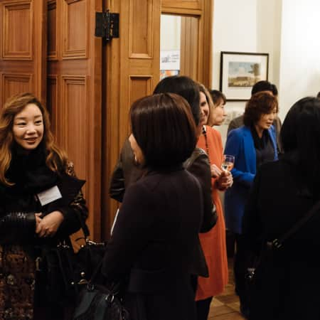 Image of guests at the UAL alumni event in Seoul