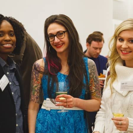 Image of guests enjoying the UAL Alumni event New York