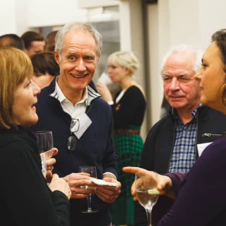 Images of guests at UAL Alumni event in New York