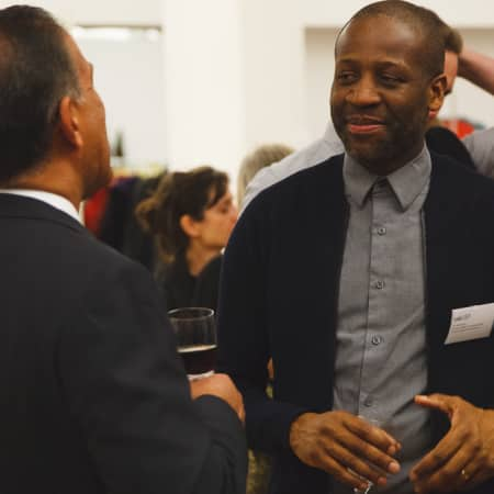 Image of two men at the UAL Alumni event in New York