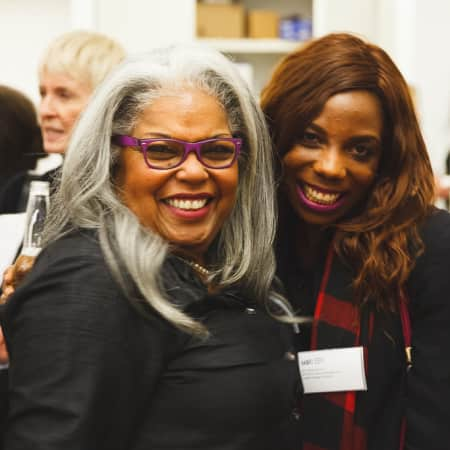 Image of two women at UAL Alumni event in New York