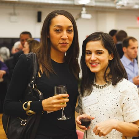 Guests enjoying the UAL Alumni event in New York
