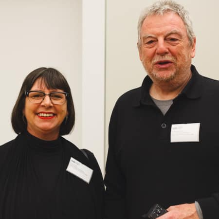 UAL Pro Vice-Chancellors Natalie Brett and Chris Wainwright at Alumni Event in New York