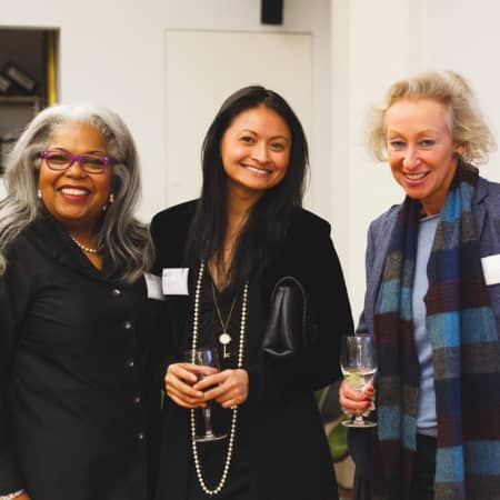 Image of guests enjoying the UAL Alumni event in New York