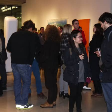 Guests at the UAL Fine Art Alumni Reception 2013