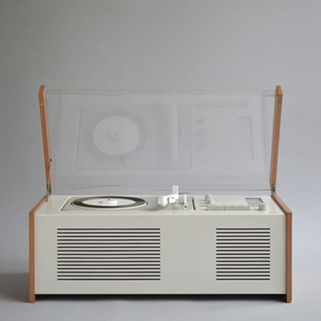 Dieter Rams - Braun PCV 4 portable record player. 1960.