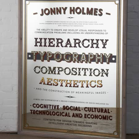 Jonny Holmes - Graphic Design Communication.