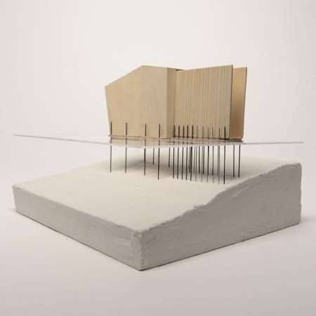 'A Bath in the River' architectural model by Leonora Gray - BA Interior and Spatial Design.