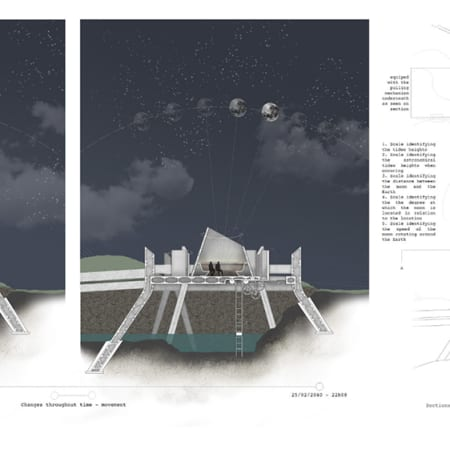 Observatory by night by Elisa Frenay - BA Interior and Spatial Design.