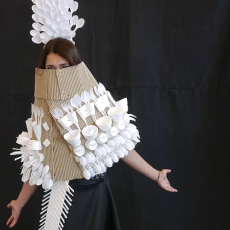 Costume created during UAL International Summer School for 16 - 18 Year Olds. Photograph: Robert Green