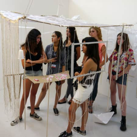 Spacial Design Workshop during UAL International Summer School for 16 - 18 Year Olds. Photograph: Robert Green
