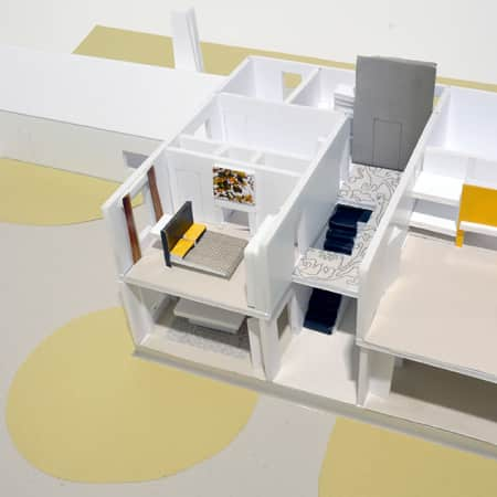 3D model created by short course student during Interior Design - Module Three. Photograph courtesy UAL Short Courses.