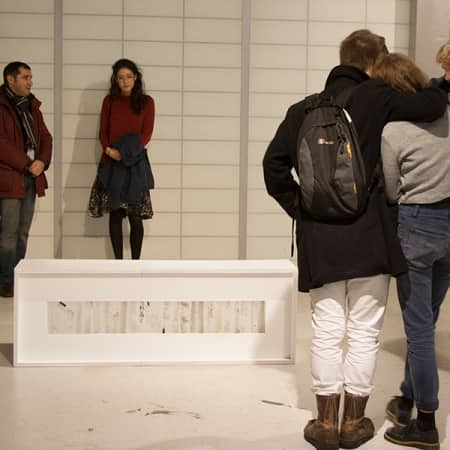 Students attending an off site gallery tour. Photograph: Lisa Hall.