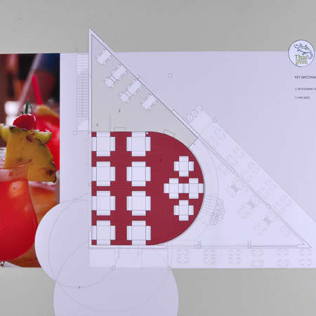 Commercial space plan created by a short course student. Photograph courtesy UAL Short Courses.