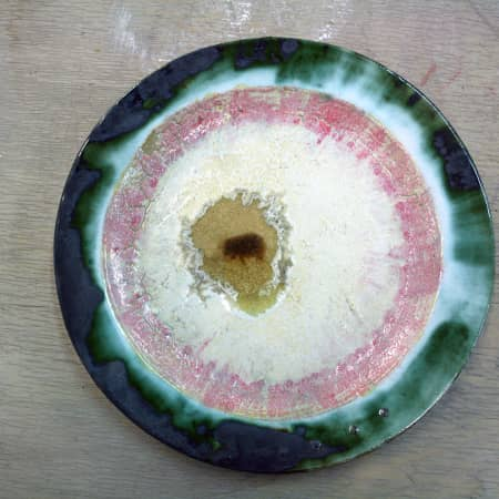 Glazed ceramic dish made by short course student. Photograph courtesy UAL Short Courses