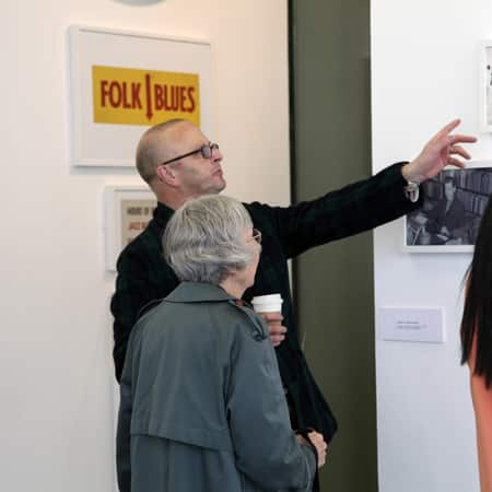 Students getting guided tour of a gallery during a short course in curating. Photograph: Spine Photographic.
