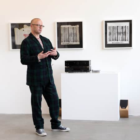 Guest speaker lecturing during a short course gallery visit. Photograph: Spine Photographic.