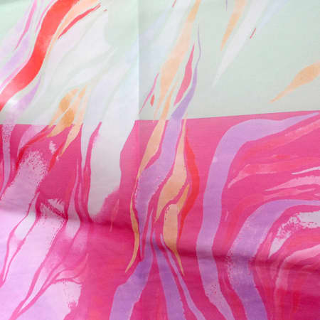 Fabric sample made by a student during Digital Pattern Design and Print. Photograph: Sarah Birt.
