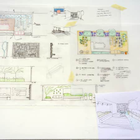 Garden design plan created by a short course student. Photograph: Lisa Hall.