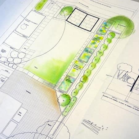 Design plan for a residential garden made during Urban Garden Design. Photograph: Lisa Hall.