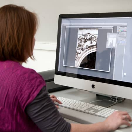 Teenager working on a project during her digital design short course. Photograph: Spine Photographic.