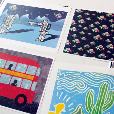 Illustrations in various media created during Illustration - Drawn to Digital. Photograph: Jasmin Woolley-Butler.