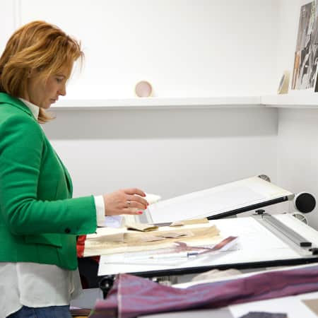 Short course student working on project in the Interior Design Studio. Photograph: Spine Photographic.