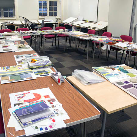 Classroom set up for Bite Sized - Interior Design. Photograph: Jasmin Woolley-Butler.