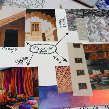 Concept board of a pop up shop created during a short course. Photograph: Sarah Birt.