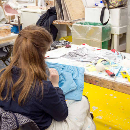 Student working on a prop design during a short course. Photograph: Jasmin Woolley-Butler.