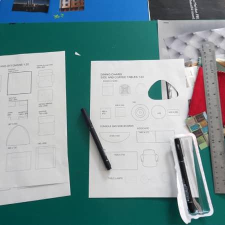 Various interior design materials used during Renovate and Decorate. Photograph: Sarah Birt.