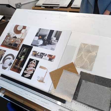 Concept board for design brief created during Renovate and Decorate. Photograph: Sarah Birt.